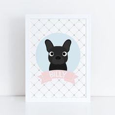 Quadro Bulldog Francês Personalizado