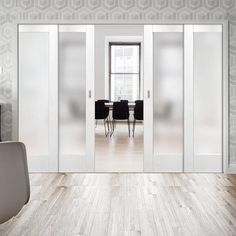 Eclisse Telescopic Pocket Doors, the idea is not only simple but simply brilliant, the telescopic frame allows two doors to go into the same wall (pocket) giving the widest opening and maximum light in the narrowest wall space. Sliding Door Design, Sliding Glass Door, Sliding Doors, Barn Doors, Plywood Furniture, Door Furniture, Plywood Floors, Laminate Flooring, Pocket Door Frame