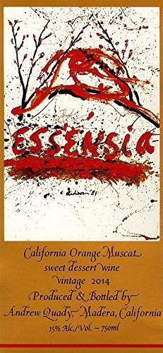 2014 Quady Essensia Orange Muscat Wine 750 mL >>> You can find more details by visiting the image link. Sauvignon Blanc, Cabernet Sauvignon, Drinks Alcohol Recipes, Alcoholic Drinks, Cocktails, Muscat Wine, Organic Wine, Signature Cocktail, Orange Blossom
