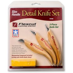 Flexcut Detail Knife Set - Carving Knife Sets - Carving Knives - Carving - Woodturning & Crafts | Axminster Tools & Machinery