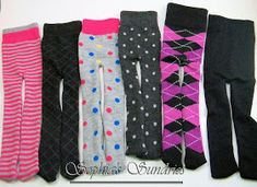 Sophia's Sundries (formerly Frugal Ideas from the Parsonage): Easy and Inexpensive Doll Tights