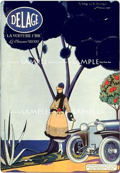 vintage french advertisement for Delage