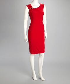 Take a look at this Red Bejeweled Dress by Quiz on #zulily today!