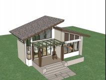 Small home design plan with one bedroom - Home Ideassearch Bungalow House Plans, Craftsman House Plans, Modern House Plans, Small House Plans, Small House Design, Modern House Design, Mini Chalet, Small Villa, Small Modern Home