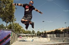 Rollerblader jumping by jsinmas on @creativemarket