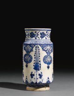 A Blue and White Iznik Albarello, Turkey, circa 1510-20