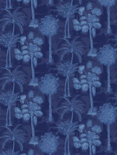 Coconut Grove Midnight , a feature wallpaper from Sophie Conran, featured in the…