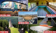 Eerie photos reveal the derelict sites of the past Olympic games including Sarajevo's decomposed ski jump, Athens murky swimming pools and Germany's abandoned athlete's village.