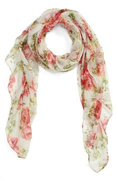 Lulu Floral Scarf (Juniors) available at #Nordstrom