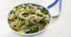 Speedy Chicken Noodle Soup: http://gustotv.com/recipes/soups/speedy-chicken-noodle-soup/