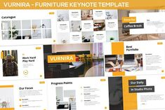Vurnira - Furniture Keynote Template by SlideFactory on Envato Elements Presentation Design Template, Ppt Design, Design Templates, Break Coffee, Daily Progress, Image Layout, Creative Powerpoint Templates, Startup, Keynote Template
