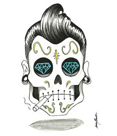 tattoo rockabilly on pinterest rockabilly rockabilly tattoo designs and day of the dead. Black Bedroom Furniture Sets. Home Design Ideas