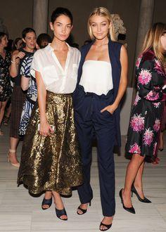 Lily Aldridge and Gigi Hadid skirt /trousers both winners
