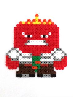 Anger - Inside Out hama perler beads by Ewi Peq