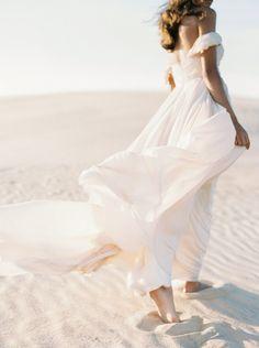Blush Wedding Gown in the Sand Dunes - Wedding Sparrow Off Shoulder Wedding Dress, Desert Fashion, The Dress, Beautiful Bride, Wedding Gowns, Wedding Blog, Destination Wedding, Wedding Ideas, Wedding Styles
