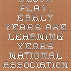 Block Play, Early Years Are Learning Years. National Association for the Education of Young Children