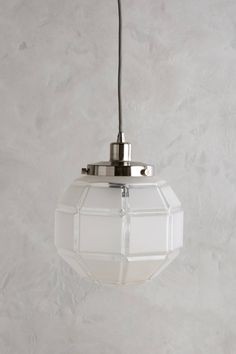 Slide View: 1: Frosted Facet Globe Pendant