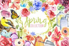 Watercolor Spring Collection by Digital Press Creation on Creative Market