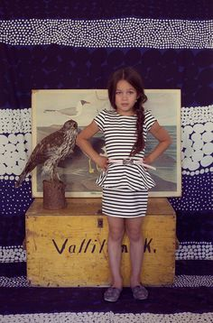 Jade wearing a dress by H and a belt by Supertrash. Beautiful backdrop fabric by Marimekko. Little Punks are BACK! Cute Outfits For Kids, Outfits For Teens, Cute Kids, Trendy Outfits, Girl Outfits, Tween Fashion, Little Girl Fashion, Fashion Children, Kool Kids
