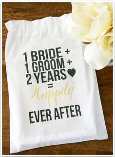 Second Wedding Anniversary Gift Ideas For Wife : diy 2nd wedding anniversary cotton gift bag second wedding anniversary ...