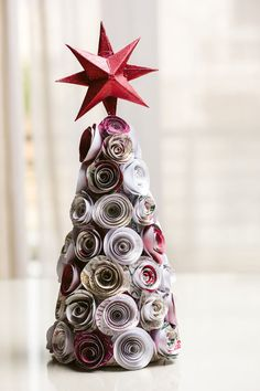 Christmas Decorations – Paper flower Christmas Tree – a unique product by Justyrs on DaWanda