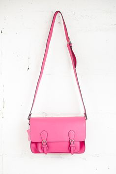 Madison Fuchsia Satchel