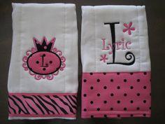 Monogrammed Burp Cloth  Custom Personalized & by EmmyLouChildrens, $18.00