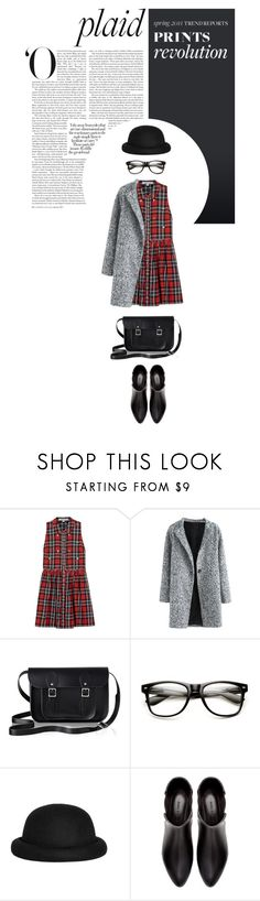 """""""schoolgirl style"""" by zoeleoy ❤ liked on Polyvore featuring Elizabeth and James, The Cambridge Satchel Company, Morgan, Zara and plaid"""