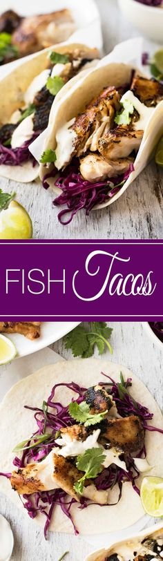 Marinated Fish Tacos