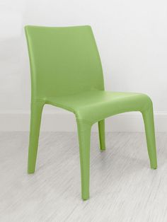 Argenta Coloured Faux Leather Dining Chair in Green from Danetti