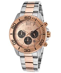 Men's Wrist Watches - Invicta Mens 17400 Pro Diver Analog Display Japanese Quartz Two Tone Watch >>> You can find out more details at the link of the image.