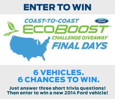 2014 Ford EcoBoost Challenge Giveaway