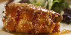 CHICKEN MEDITERRANE Chicken filled with Greek & Italian flavours wrapped in prosciutto
