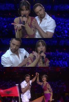 And featured this. | Petra Mede And Måns Zelmerlöw Were Bloody Great Eurovision Presenters