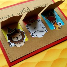 I wanted to make a peek-a-boo card with the Wild For You stamp set and Lift the Flap dies from Lawn Fawn. I started by creating the pee...