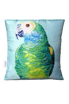 Tropical Storm: Parrot cushion