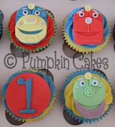 Chuggington train cupcakes
