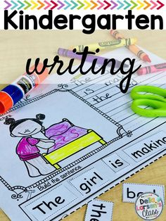 Reading, Writing, and Sentence Building Kindergarten Writing Prompts, Kindergarten Readiness, Kindergarten Classroom, Classroom Ideas, Literacy Stations, Literacy Skills, Literacy Centers, Interactive Learning, Fun Learning