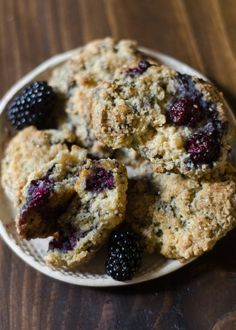 Blackberry Scones from The Big Sur Bakery Cookbook... If you're going to make just one scone, let me explain why this should be the one...