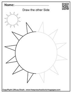 Set of spring symmetry (draw the other half) free preschool coloring pages Abc Coloring Pages, Preschool Coloring Pages, Free Printable Coloring Pages, Numbers Preschool, Free Preschool, Preschool Activities, Symmetry Activities, Cardboard Crafts Kids, Do A Dot