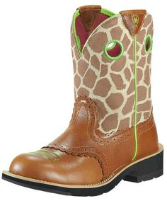 Ariat Women's Fatbaby Cowgirl Boot - Coyote Brown/Giraffe Print   LOVE LOVE LOVE These~