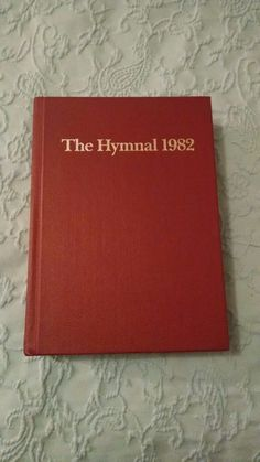 Hymnal Book Hard Back Episcopal Church Red Great Condition Songs Music