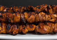 Filipino Chicken Kebabs - Tired of your standard grilled chicken. You have to try these deliciously flavorful Filipino chicken kebabs. Quick and easy and bursting with Asian flavors. Grilled Fish Recipes, Healthy Grilling Recipes, Seafood Recipes, Healthy Soy Sauce, Smoked Chicken Wings, Chicken Skewers, Tandoori Chicken, Kebabs, Girls