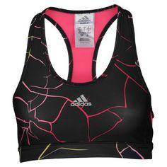 801d3f59a5 adidas Techfit Shatter Print Bra - Women s - Basketball - Clothing -  Black Blaze Pink