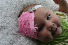 15% off, Pink Feather and rhinestone headband, Baby Headbands, Adult Headband, Toddler Headband, Photo Prop, Headband, Baby Bows