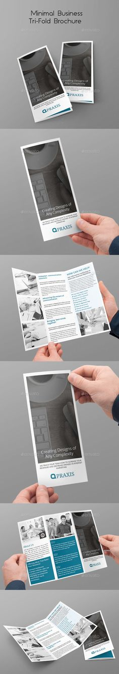 Minimal Business Tri-Fold Brochure Template #design Download: http://graphicriver.net/item/minimal-business-trifold-brochure/10444081?ref=ksioks