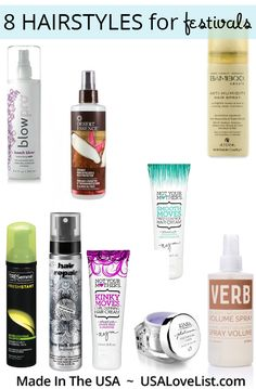 8 summer hairstyles for festivals | American made hair products