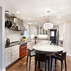 view of kitchen with table Kitchen Remodeling, Remodeling Ideas, Kitchen Islands, Table, Furniture, Home Decor, Homemade Home Decor, Tables, Home Furnishings