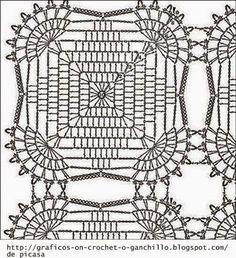 Unisex, Teaser Slouch, Free Crochet Pattern - The Yarn BoxHome Decor Crochet Patterns Part 122 - Beautiful Crochet Patterns and Knitting Patterns Crochet Motif Patterns, Crochet Blocks, Granny Square Crochet Pattern, Crochet Diagram, Crochet Chart, Crochet Squares, Knitting Patterns, Crochet Dollies, Crochet Tablecloth