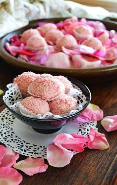 Rose Petal Chocolate Truffles - Recipe - shewandersshefinds.com